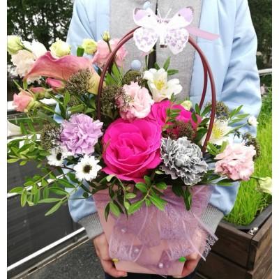 Цветочный микс в сумке