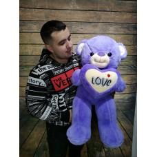 """Мягкая игрушка """"Фиолетовый медведь"""""""